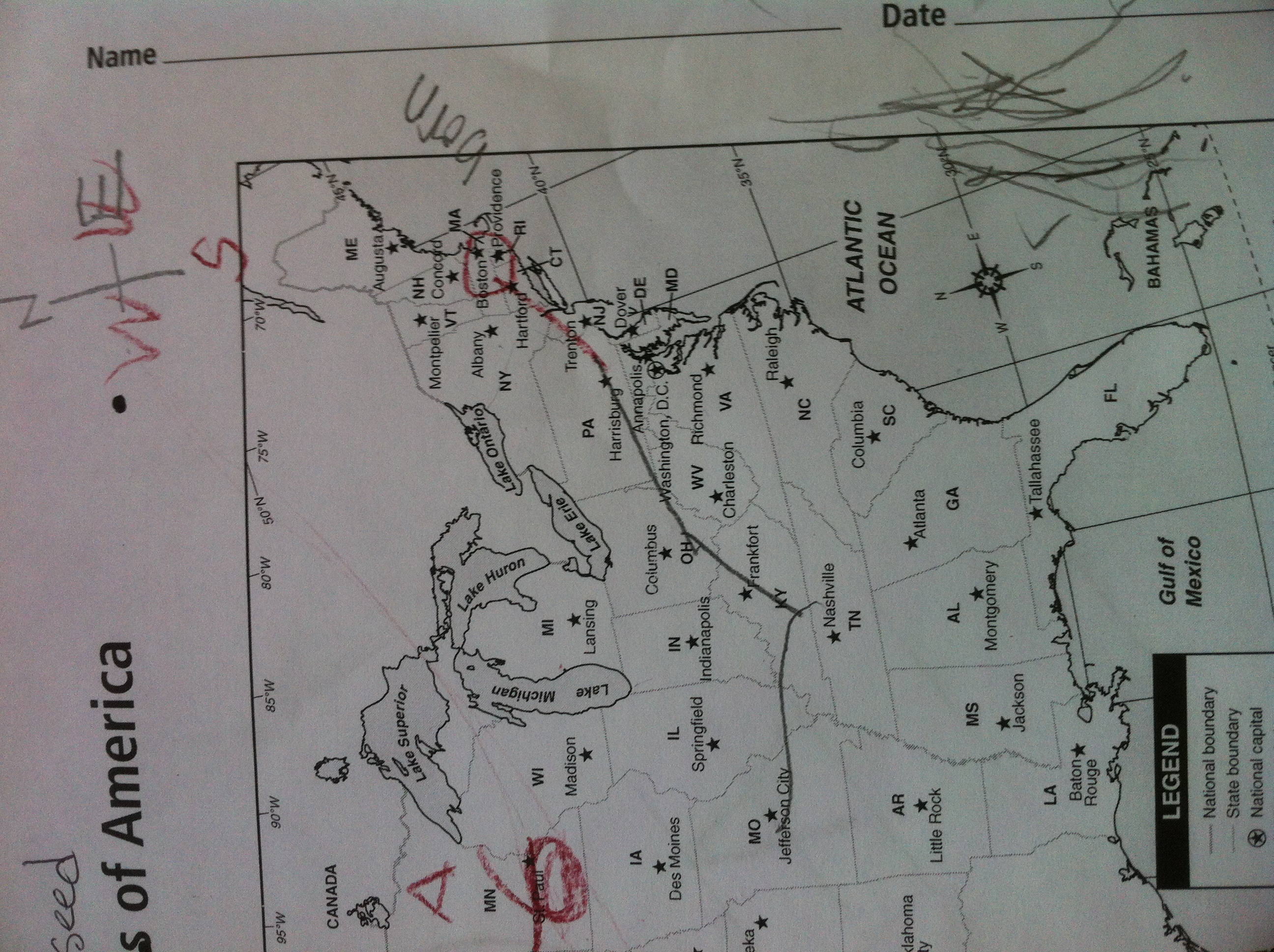 Week TwentyFour Chickadee Bungalow - Us map eduplace
