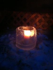 Ice bucket candle holder